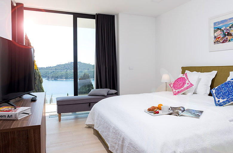 The bedroom view at Exclusive Accommodation Apartment in Dubrovnik at Casa Bianca