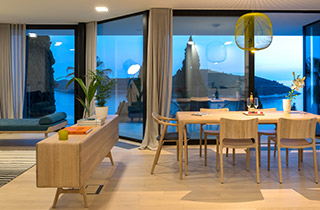Sunset view and dinning area at Exclusive Accommodation Apartment in Dubrovnik at Casa Bianca